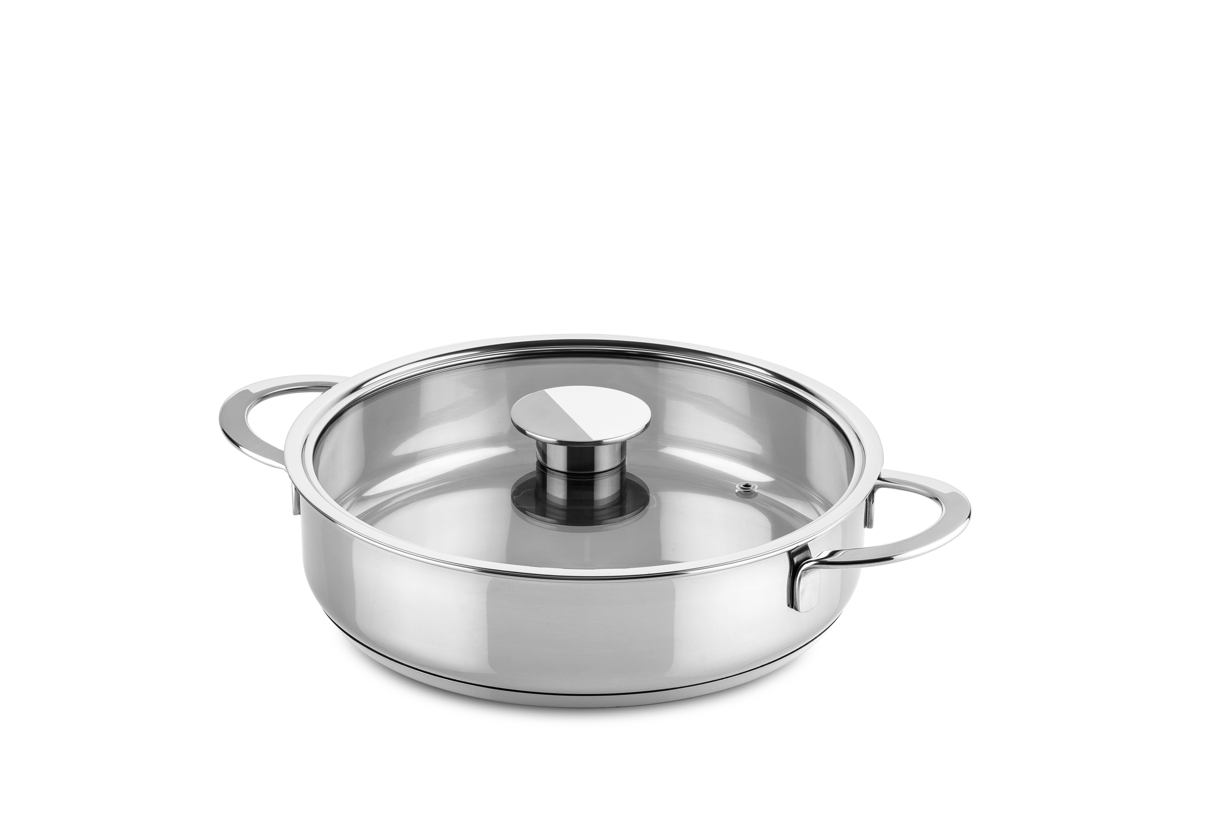 Frying Pan W/Glass Lid Cm 26