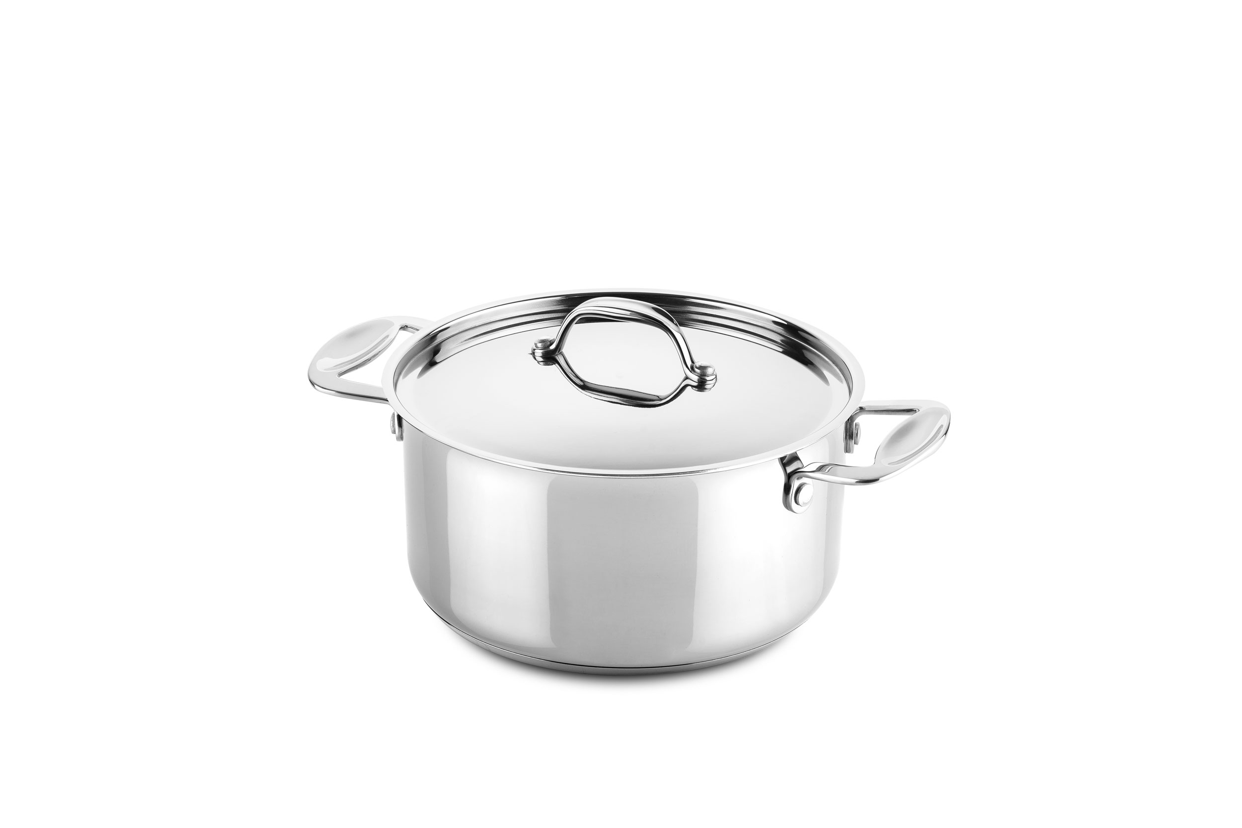 Casserole 2 handles 20 cm Glamour Stone Stainless Steel