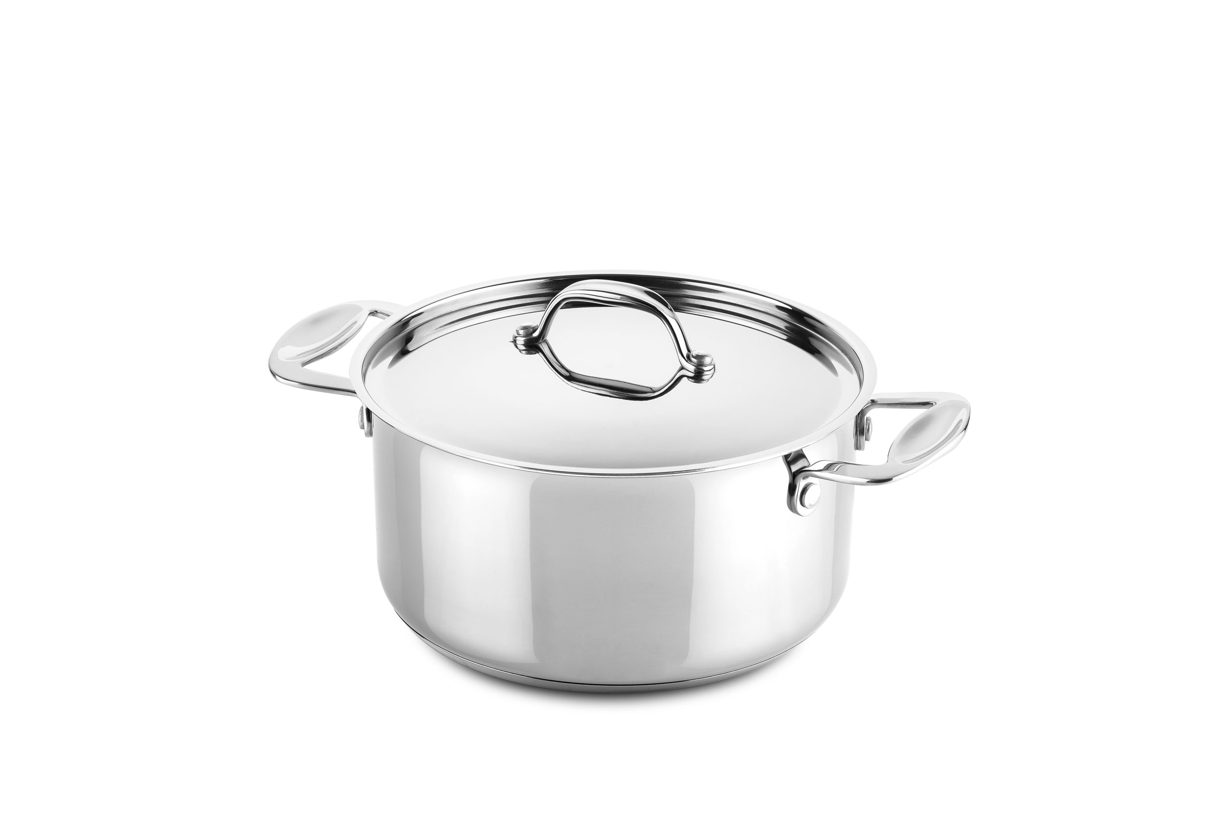 Casserole 2 handles 22 cm Glamour Stone Stainless Steel