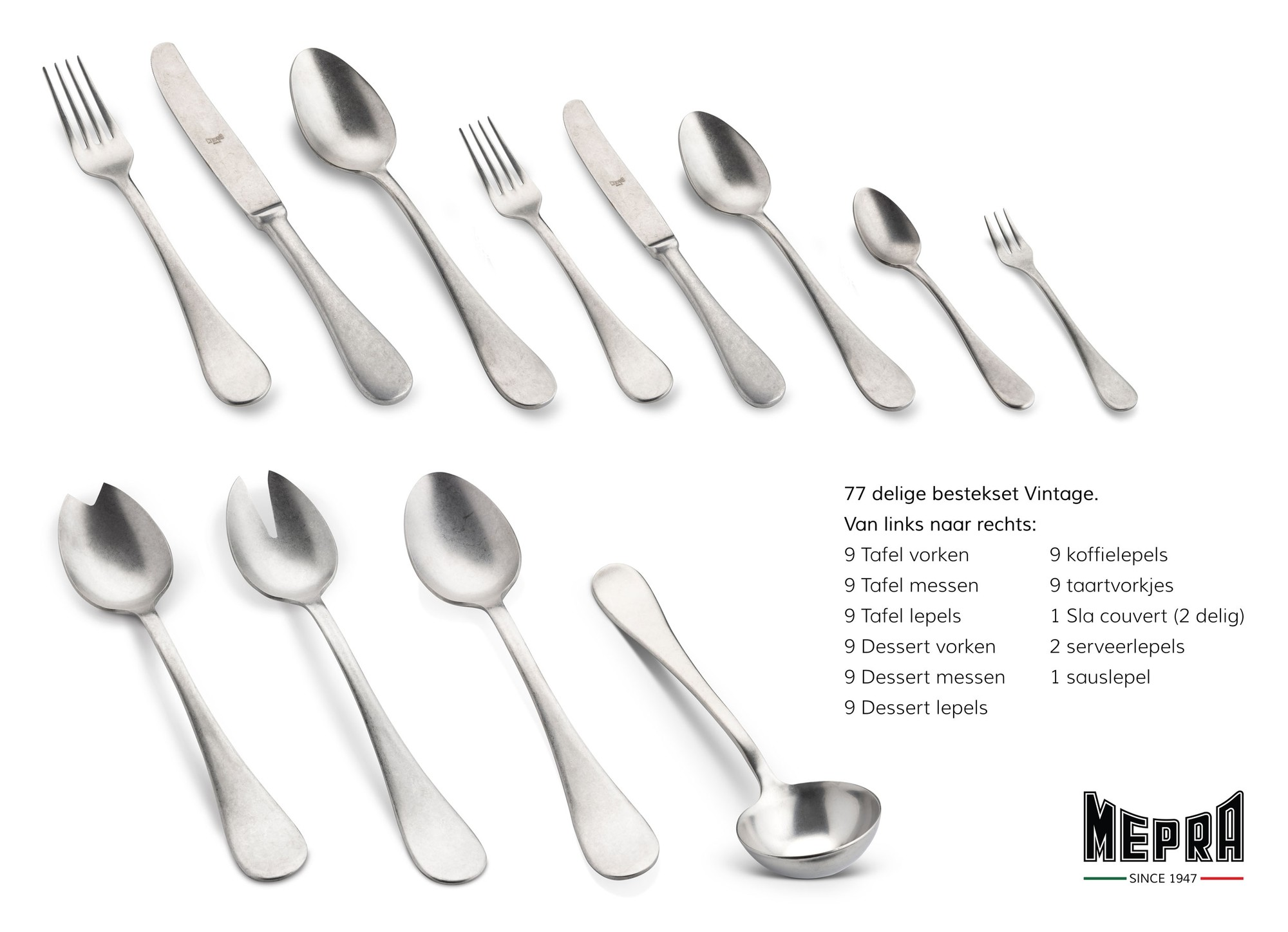 Cutlery Set 78 Pcs Vintage