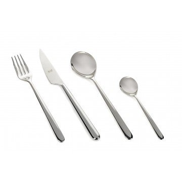 24 pcs set Linea Stainless Steel