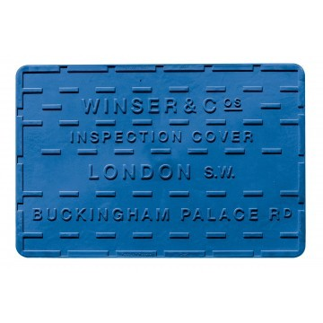 Streetcover 'Londen' 30x45 cm - Blauw