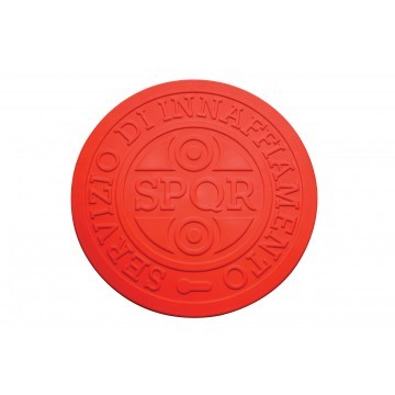 Streetcover 'Rome' rond 17 cm - Rood