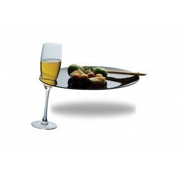Policarbonato buffet bord ø28 cm Nero (zwart)