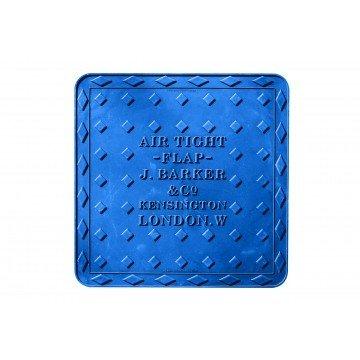 Streetcover 'Londen' 45x45 cm - Blauw