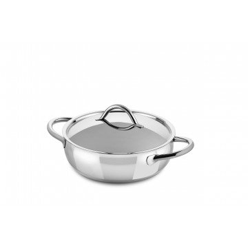 Frying Pan 2 Handles Cm.24 1950 with lid