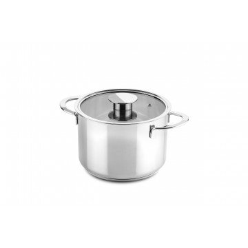 Deep Pot With Glass Lid Cm 20