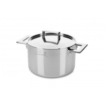 Deep pot CM 20 Attiva with lid
