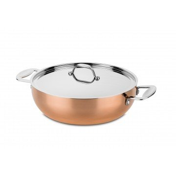 Frying Pan 2 Handles Toscana With Lid Dia Cm. 28