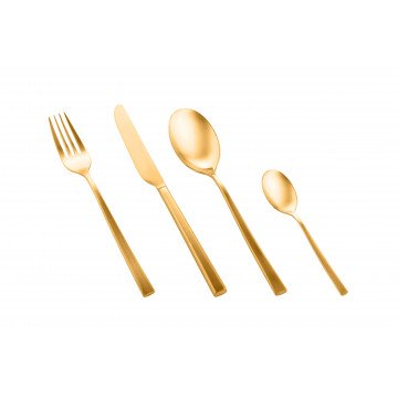 Bestekset 24 delig Firenze Oro Ice (mat goud)