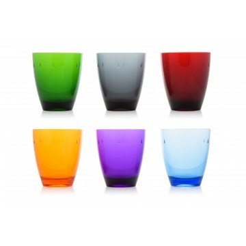 Set 6 Tumbler Policarbonate Colors Mixed