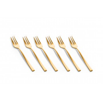 Set Cake Fork 6 Pcs Firenze Oro Ice