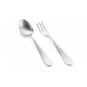2 pcs serving set Natura Stainless Steel