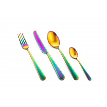 Cutlery Set 24 Pcs Stoccolma Rainbow Ice