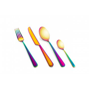 Cutlery Set 24 Pcs Stoccolma Rainbow
